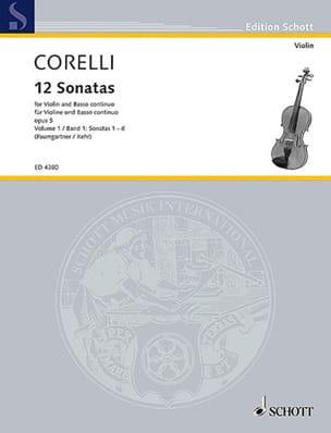 12 Sonates op. 5, Volume 1 1 à 6 Paumgartner CORELLI laflutedepan