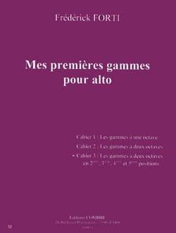 Mes Premières Gammes Pour Alto Volume 3 Frédérik Forti laflutedepan
