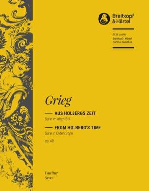 Suite Holberg, op. 40 GRIEG Partition Grand format - laflutedepan