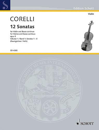 12 Sonates op. 5, Volume 1 1 à 6 Paumgartner - laflutedepan.com