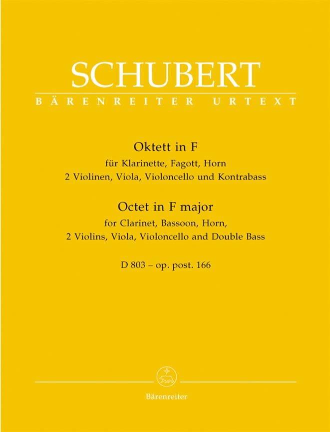 Octuor en Fa Majeur D. 803 Op. Posth 166 - SCHUBERT - laflutedepan.com