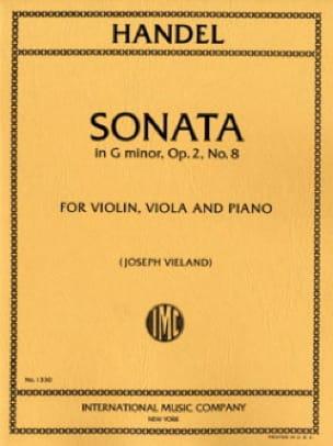 Sonata G minor op. 2 n° 8 -Parts - HAENDEL - laflutedepan.com