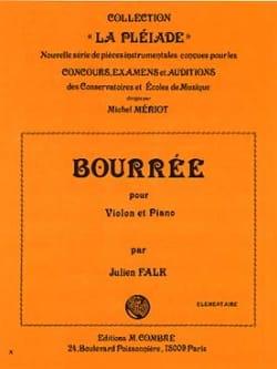Bourrée Julien Falk Partition Violon - laflutedepan