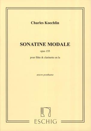 Sonatine modale op. 155 Charles Koechlin Partition Duos - laflutedepan