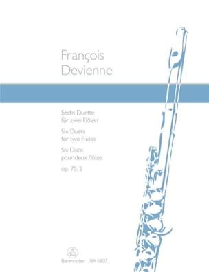 6 Duette op. 75/2 - 2 Flöten DEVIENNE Partition laflutedepan