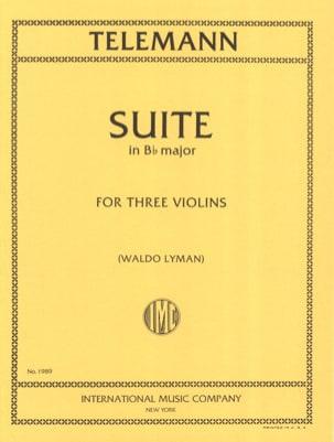 Suite en si bémol majeur pour 3 violons TELEMANN laflutedepan