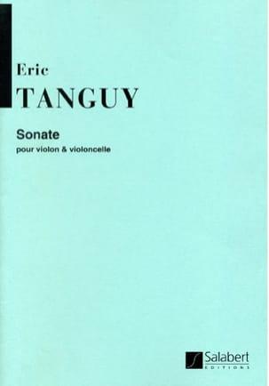 Sonate - Violon violoncelle Eric Tanguy Partition 0 - laflutedepan