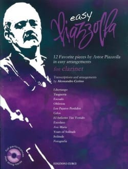Easy Piazzolla - Clarinette Astor Piazzolla Partition laflutedepan