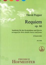 David Popper - Requiem - 3 Double Bass and Piano - Partition - di-arezzo.com