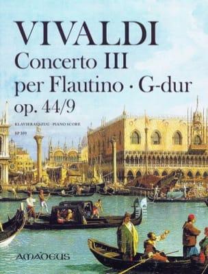 Concerto III, opus 44/9 VIVALDI Partition Flûte à bec - laflutedepan