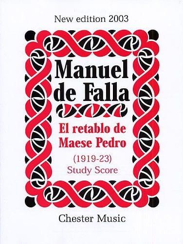 El retablo de Maese Pedro - Score - DE FALLA - laflutedepan.com