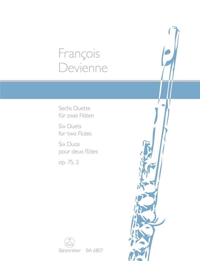 6 Duette op. 75/2 - 2 Flöten - DEVIENNE - Partition - laflutedepan.com