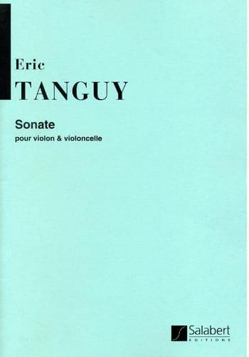 Sonate - Violon violoncelle - Eric Tanguy - laflutedepan.com