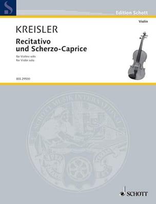 Recitativo und Scherzo-Caprice op. 6 KREISLER Partition laflutedepan