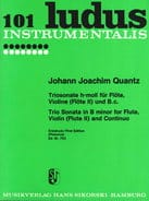 Triosonate h-moll - Flöte, Violine Flöte 2 u. Bc QUANTZ laflutedepan