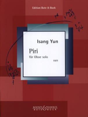 Piri für Oboe solo Isang Yun Partition Hautbois - laflutedepan