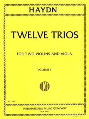 12 Trios - Volume 1 -2 Violins Viola HAYDN Partition laflutedepan