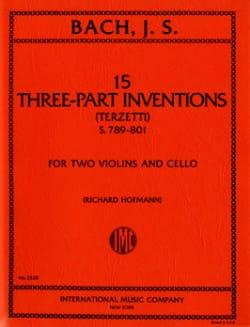15 Three-part inventions -2 Violins cello - Parts BACH laflutedepan