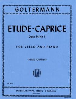 Etude-Caprice op. 54 n° 4 Georg Goltermann Partition laflutedepan
