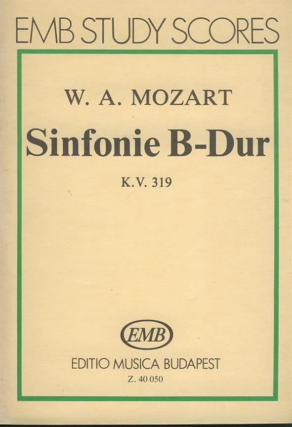Symphonie Nr. 33 B-Dur KV 319 - Partitur - MOZART - laflutedepan.com