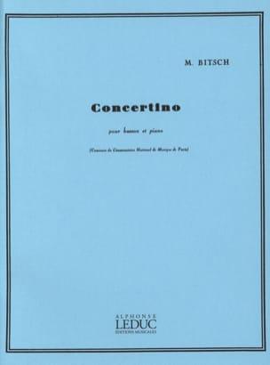 Concertino pour basson Marcel Bitsch Partition Basson - laflutedepan