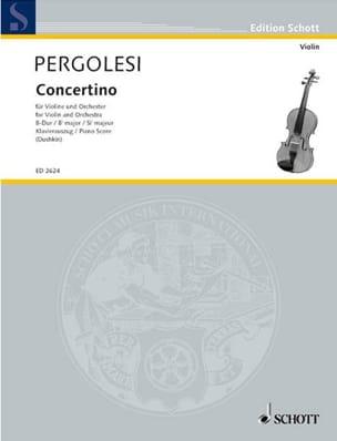 Concertino en si bémol majeur - PERGOLESE - laflutedepan.com