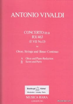 Concerto in A minor RV 463 - F. 7 n° 13 - Oboe strings Bc laflutedepan