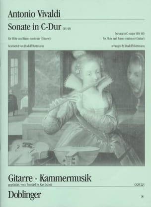 Sonate en Do Majeur, Rv 48 VIVALDI Partition Duos - laflutedepan