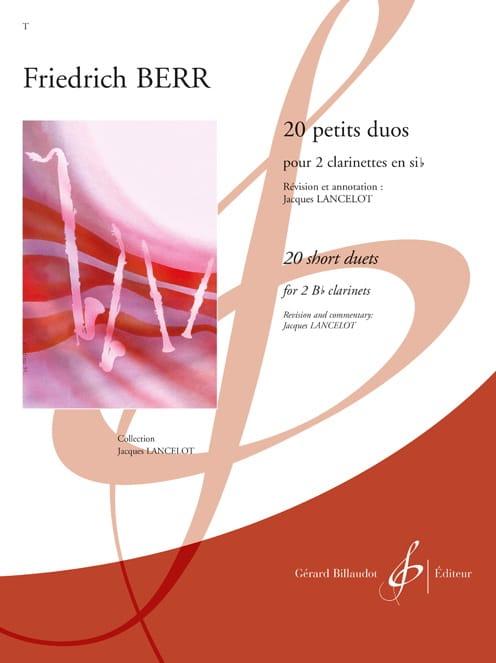 20 Petits duos - Friedrich Berr - Partition - laflutedepan.com
