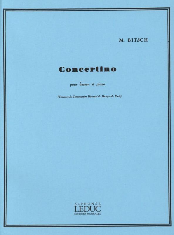 Concertino pour basson - Marcel Bitsch - Partition - laflutedepan.com