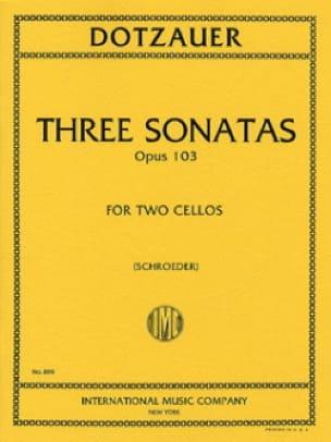 3 Sonatas op. 103 - Friedrich Dotzauer - Partition - laflutedepan.com