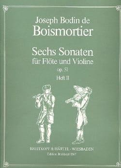 6 Sonates op. 51 Volume 2 - Flûte et Violon - laflutedepan.com