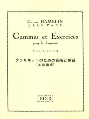 Gammes et exercices - Clarinette Gaston Hamelin Partition laflutedepan