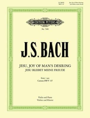Jesu, Joy of Man's Desiring BACH Partition Violon - laflutedepan