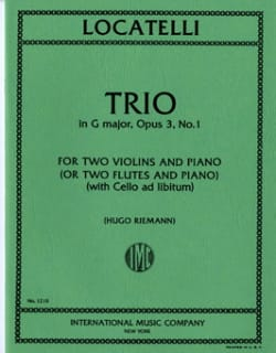 Trio G major op. 3 n° 1 - Parts LOCATELLI Partition laflutedepan