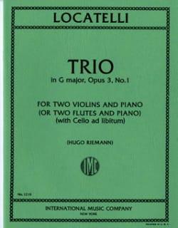 Trio G major op. 3 n° 1 -Parts LOCATELLI Partition laflutedepan