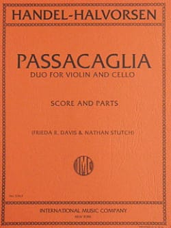 Passacaglia - Violin cello HAENDEL Partition 0 - laflutedepan