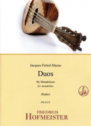 Duos pour Mandolines MAZAS Partition Mandoline - laflutedepan