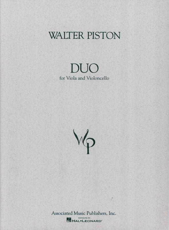 Duet for Viola & Cello - Walter Piston - Partition - laflutedepan.com