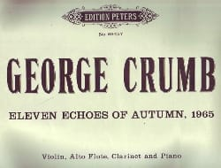 Eleven echoes of Autumn, 1965 George Crumb Partition laflutedepan