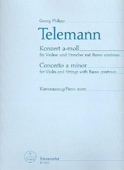 TELEMANN - Violin Concerto a minor - Partition - di-arezzo.co.uk