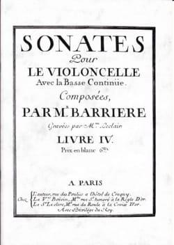 Sonates Pour le Violoncelle Livre 4 Jean Barrière laflutedepan