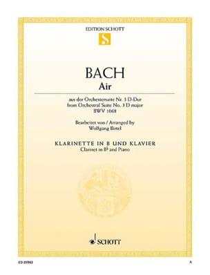 Air de la Suite d'orchestre n° 3 en Ré majeur, BWV 1068 - laflutedepan.com