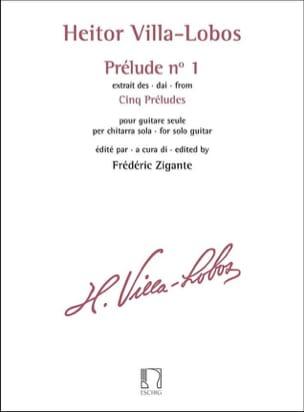 Prélude n° 1 VILLA-LOBOS Partition Guitare - laflutedepan