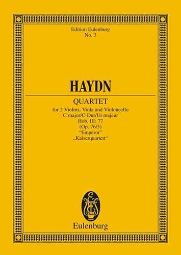 Streich-Quartett C-Dur op. 76 n° 3 - HAYDN - laflutedepan.com