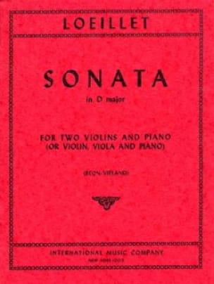 Sonata Ré Majeur - LOEILLET - Partition - laflutedepan.com