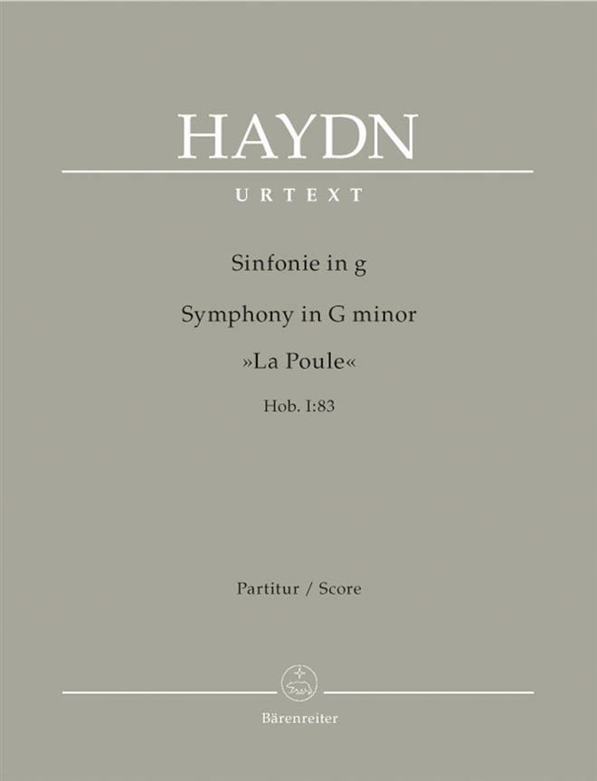 Symphonie En Sol Majeur Hob1 :83 - HAYDN - laflutedepan.com
