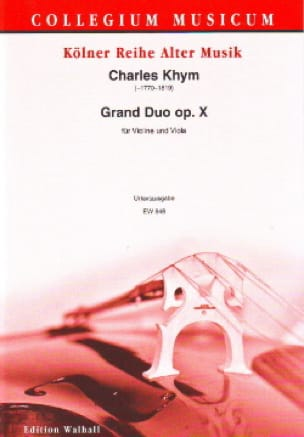 Grand Duo Op.10 - Charles Khym - Partition - 0 - laflutedepan.com