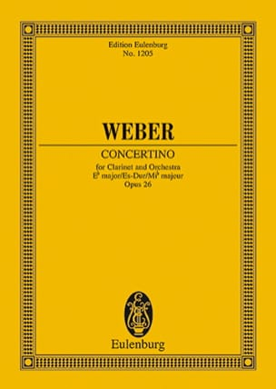 Concertino für Klarinette Es-Dur op. 26 - Partitur laflutedepan