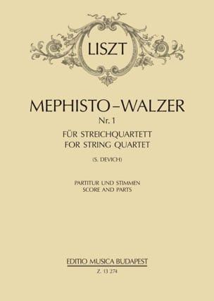 Mephisto-Valse - Quatuor à Cordes LISZT Partition laflutedepan